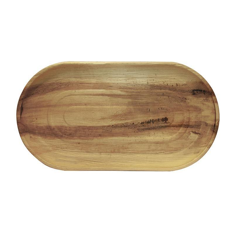 EcoSouLife Disposable Large Serving Tray Areca Nut Leaf Material Top Shot