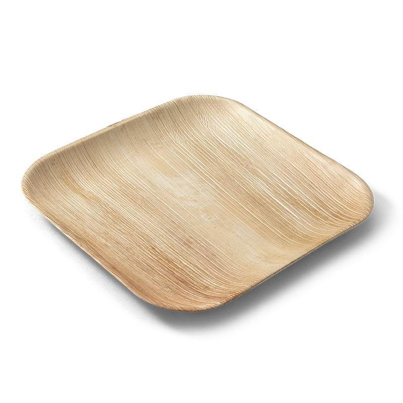 EcoSouLife Disposable Individual Square Plate Areca Nut Leaf Material