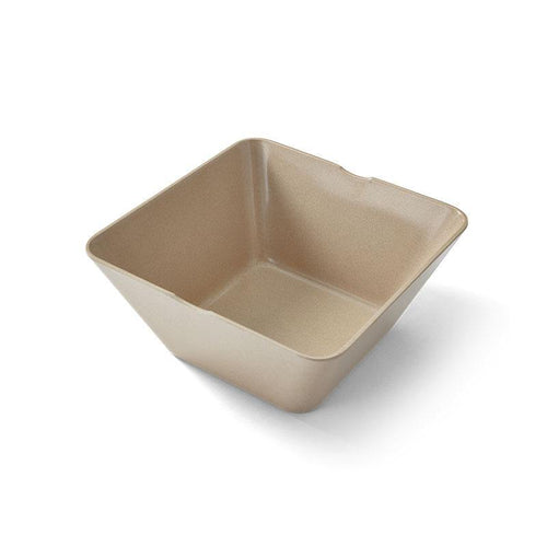 EcoSouLife Small Square Bowl Rice Husk Material