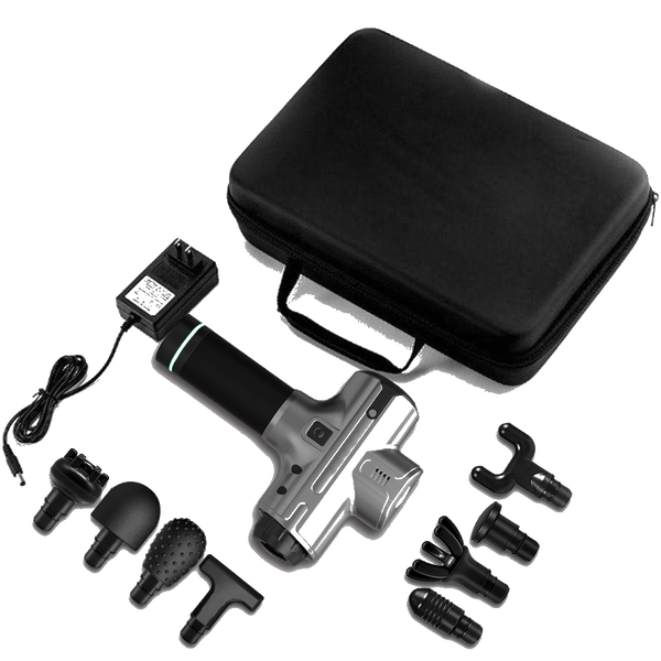 Whats included with PegaBolt®, what does PegaBolt come with. 1 AC charger, 8 attachment heads, 1 PegaBolt case,