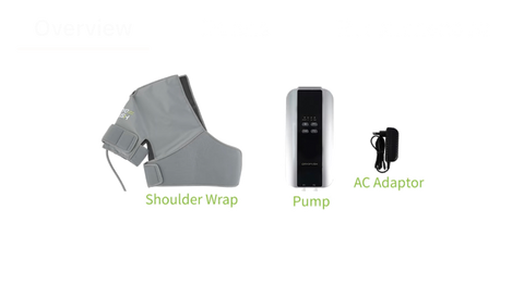 CryoPush®, Cryotherapy shoulder and thighs gear. Ice compression pack