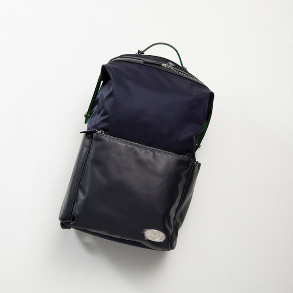 Leather Back Pack /レザーx ナイロンバックパック Made In Italy