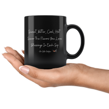 Load image into Gallery viewer, Blessings Black Mug