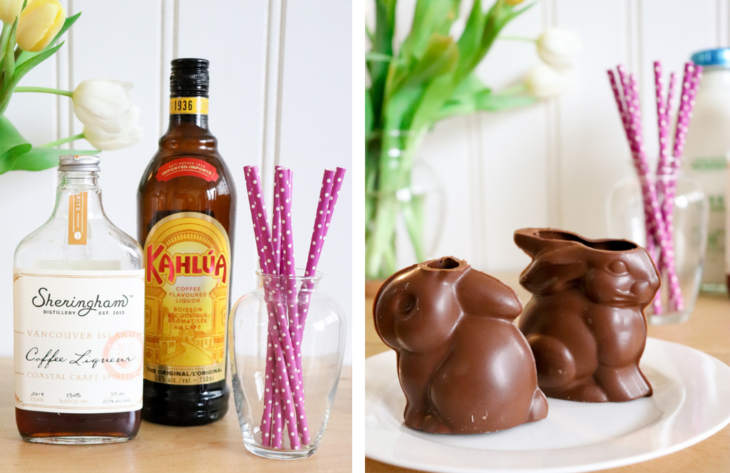 Sheringham Distillery Coffee Liqueur for White Russian Easter Bunny Cocktail