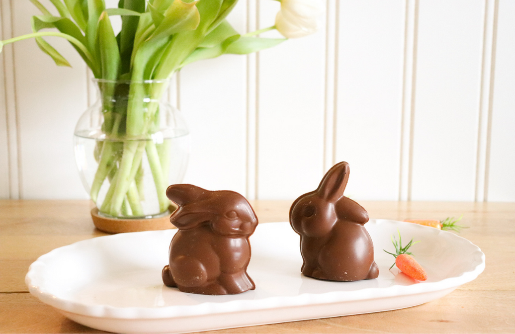 Charlie's Chocolate Factory hollow easter bunnies for a DIY Easter Bunny Cocktail
