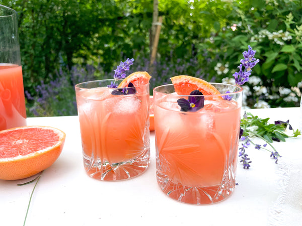 Grapefruit Cider Mimosa Summer Beverage made with Sea Cider Kings & Spies