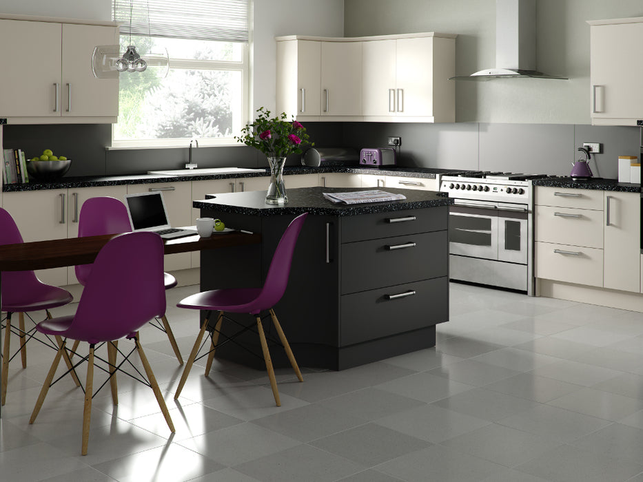 1245 Duleek Matte Curved Kitchen Door