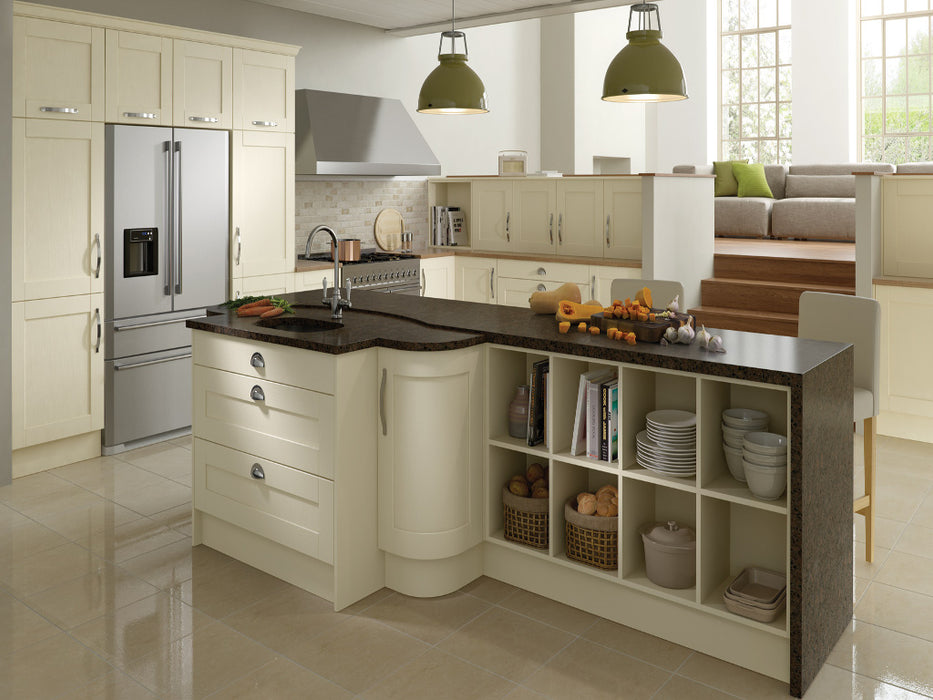 Madison Painted Door and 720 x 600 Left Corner Straight Wall Kitchen Unit