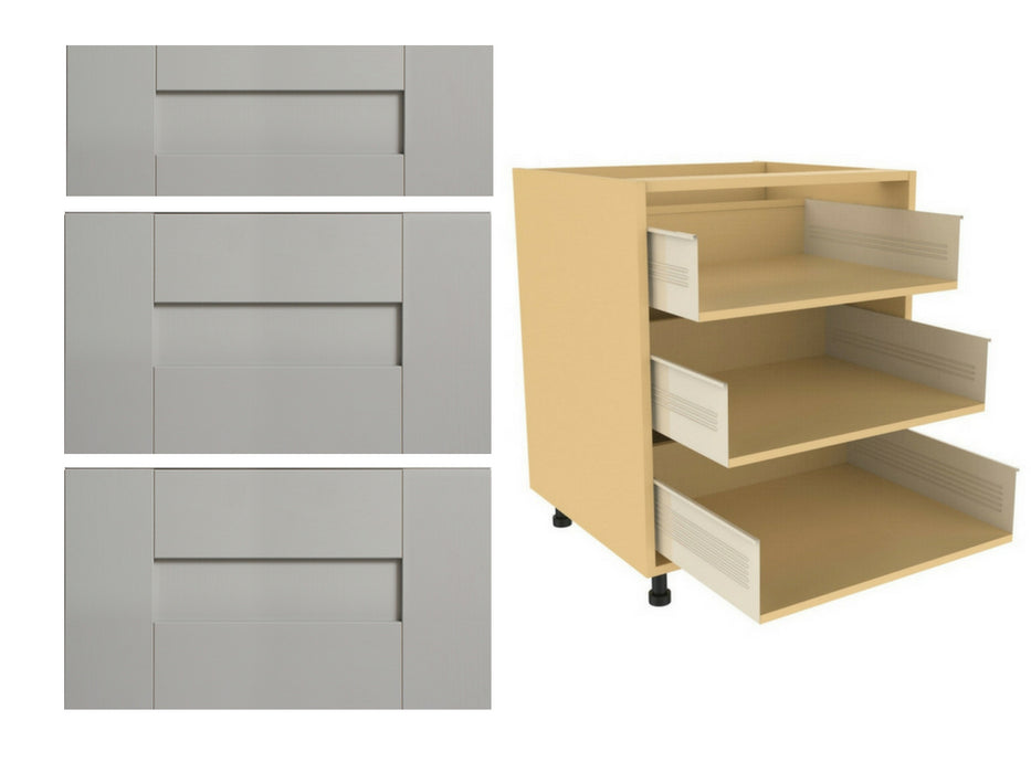 Fenwick Matte Drawer Fronts and 720 x 500 x 3 Drawer Kitchen Unit (Type D)