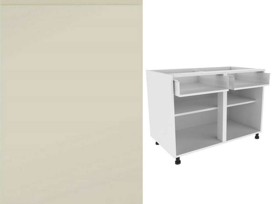 Strada Matte Door and 720 x 900 Double Drawer Line Base Kitchen unit