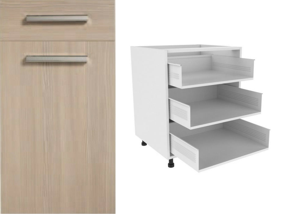 Zoom Matte Drawer Fronts and 720 x 1000 x 3 Drawer Kitchen Unit (Type D)