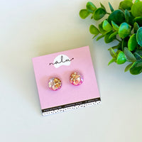 Petite LUCY Studs - Pink Champagne