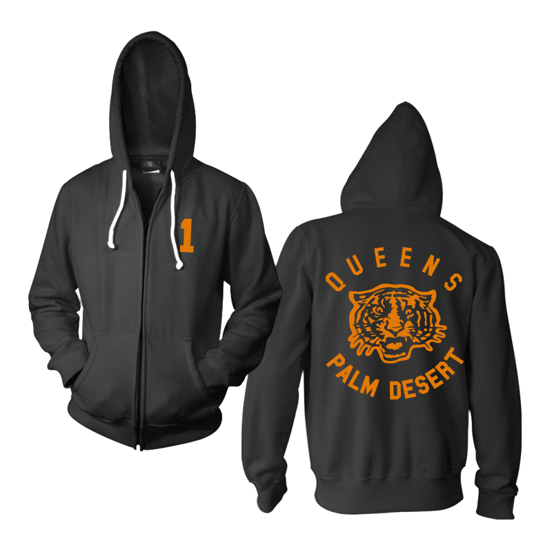 Tiger Zip-Up Hoodie - Queens of the Stone Age - 1