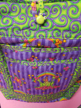 Load image into Gallery viewer, Beautiful Handmade Tote Bag! Purple/green frog