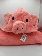 Load image into Gallery viewer, Kids Piggy Bath Towel