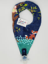 Load image into Gallery viewer, Minky Pacifier Bib Holder-Many Designs!