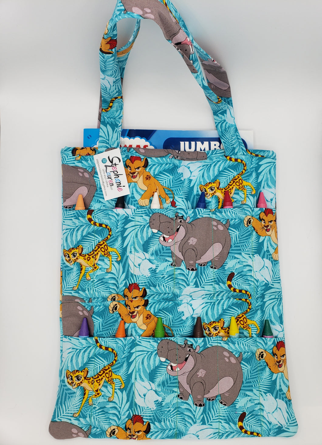 Lion Crayon/Coloring Book Tote Bag