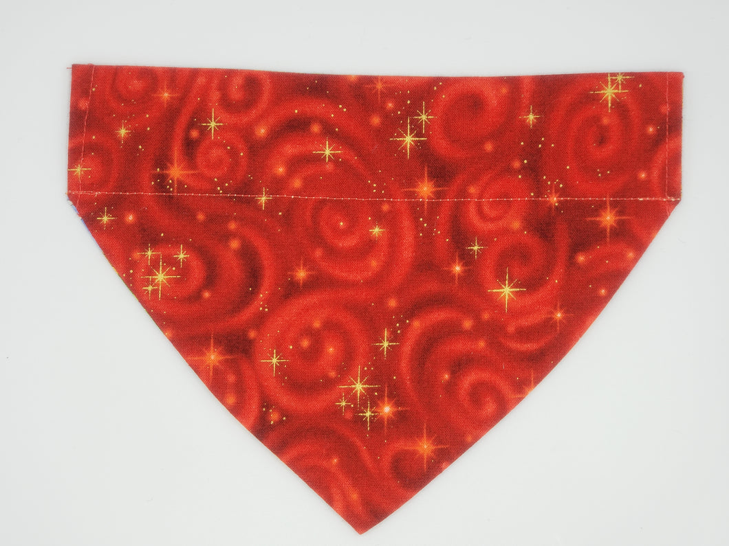 Dog Bandana-Red Swirl-With Name