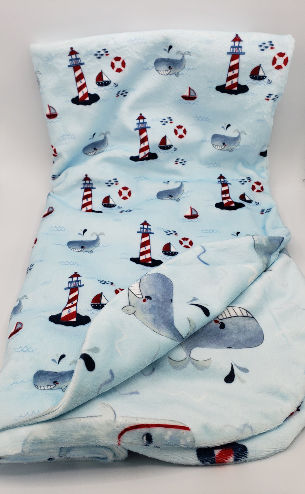 Lighthouse Minky Blanket