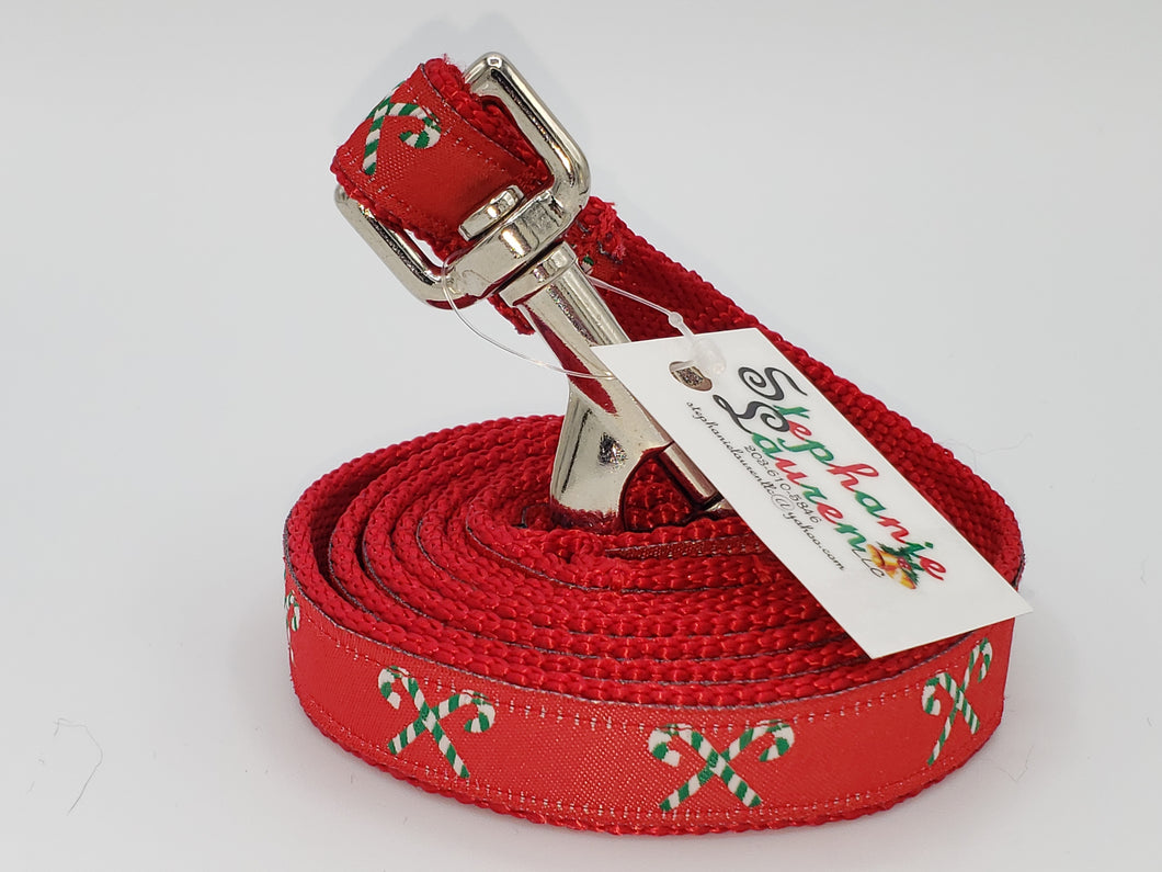 Candy Cane Dog Leash-Small