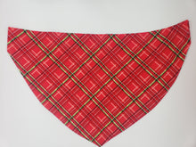 Load image into Gallery viewer, Dog Bandana-Christmas Plaid-With Name