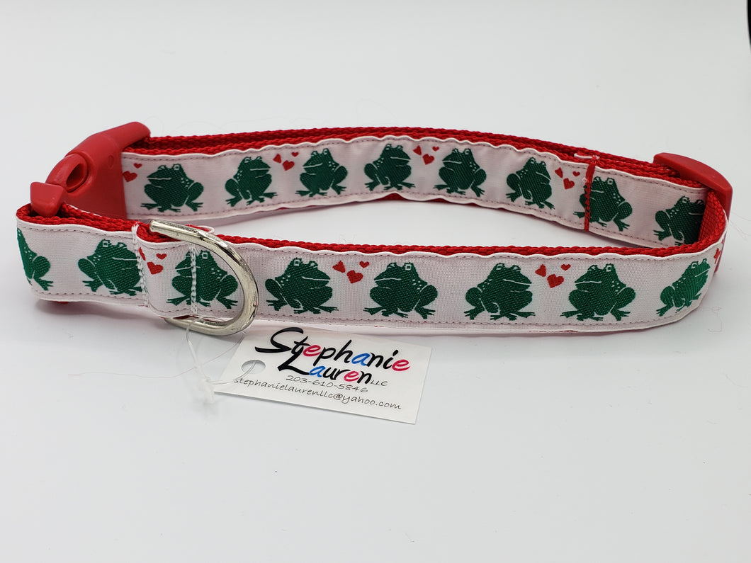 Frog Heart Dog Collar-Large