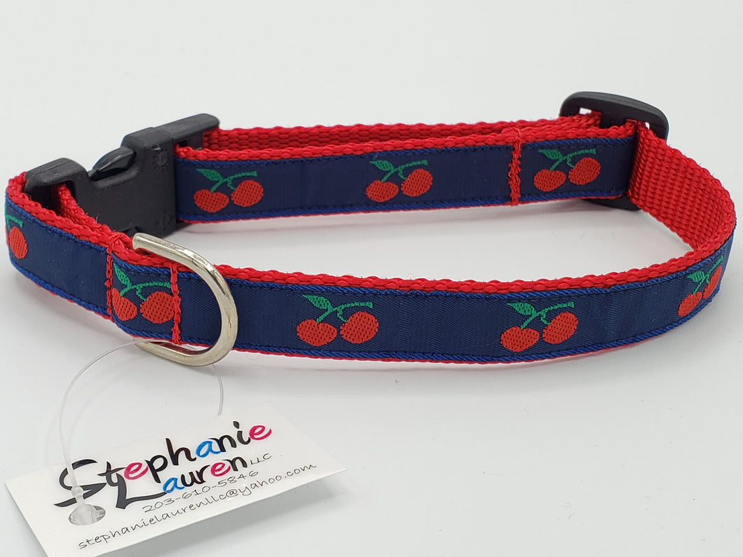 Cherry Dog Collar-Small