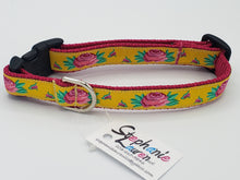 Load image into Gallery viewer, Rose Dog Leash/Collar Set-Small