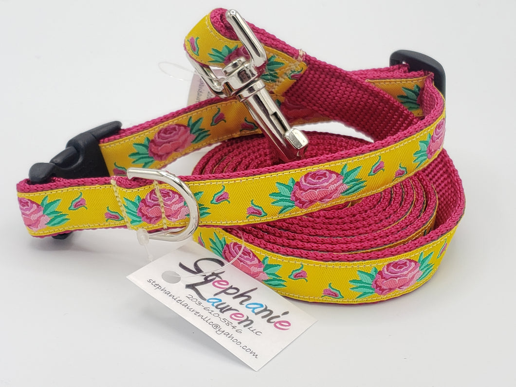 Rose Dog Leash/Collar Set-Small