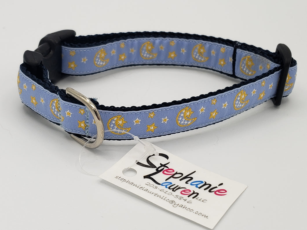 Moon & Stars-Dog Collar-Small