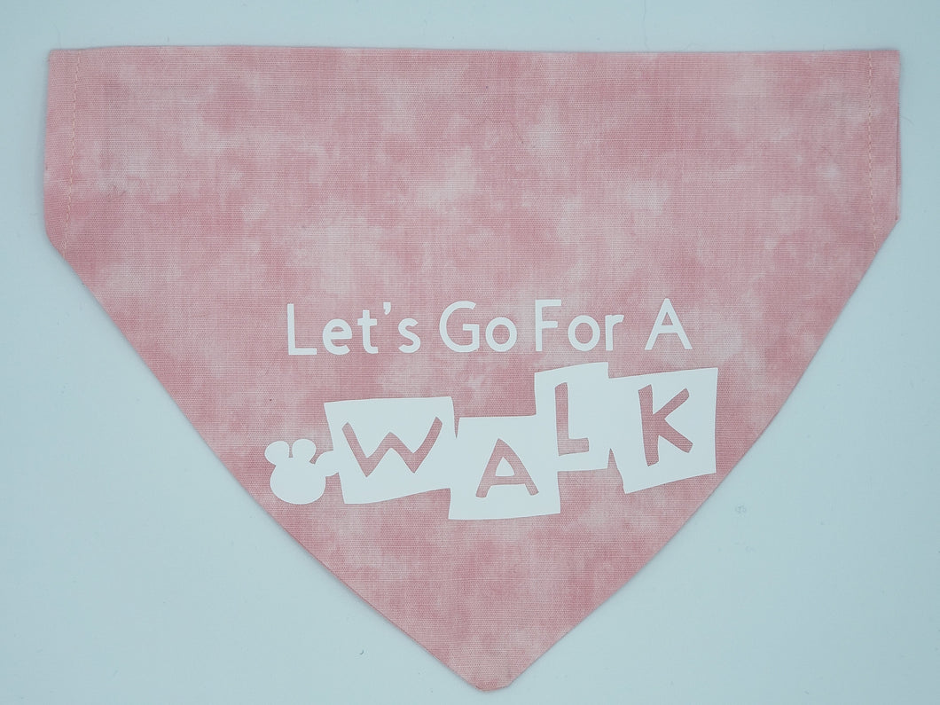 Dog Bandana-Let's Go For A Walk