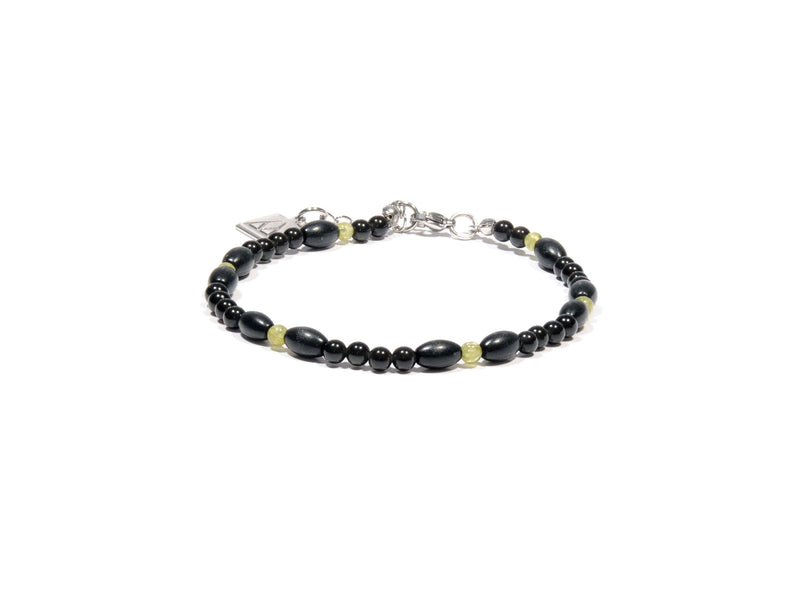 Anklet Lava, Obsidian and Peridot - Magma Canario - Volcanic Jewelry Shop