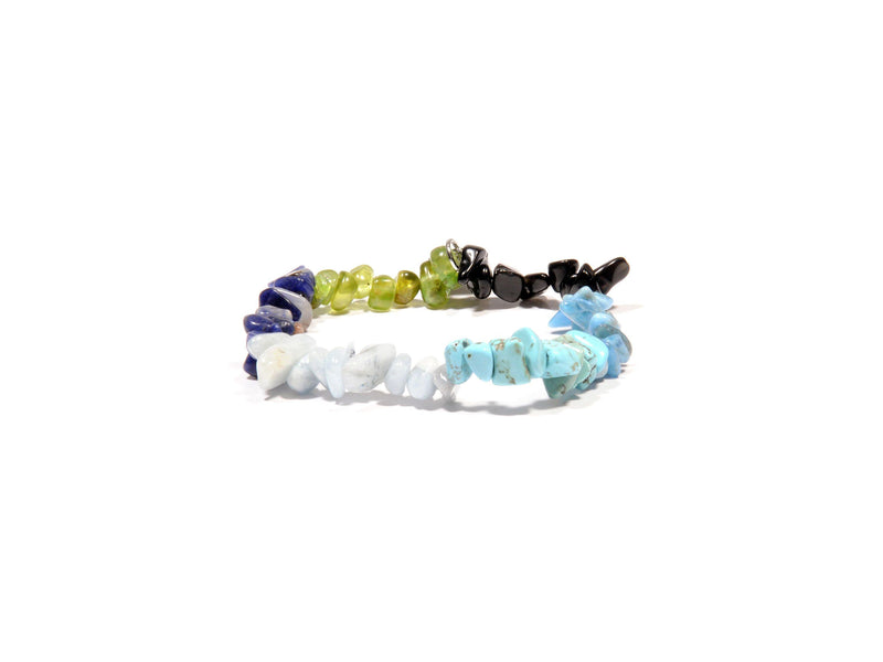 Bracelet with Peridot, Aquamarine, Turquoise, blue Agata and Sodalite - Magma Canario - Volcanic Jewelry Shop