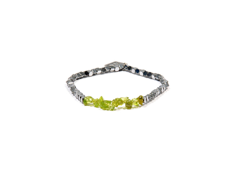 Bracelet with Peridot and Hematite - Real Olivina - Volcanic Jewelry Shop
