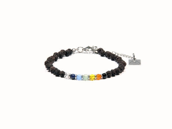 Brown Chakra anklet - Magma Canario - Volcanic Jewelry Shop