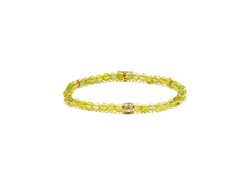 Peridot bracelet with golden antique details - Real Olivina - Volcanic Jewelry Shop