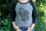 Women's Wisconsin 3/4 Sleeve Tee