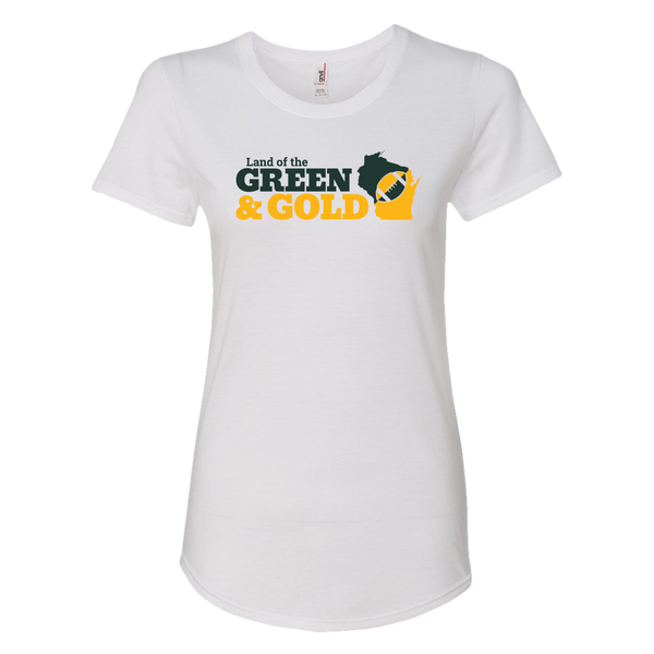 Women's Green & Gold Tee