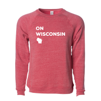 On Wisconsin Vintage Crew Sweatshirt
