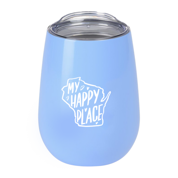 """My Happy Place"" Light Blue Tumbler"