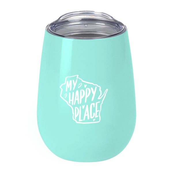 """My Happy Place"" Mint Tumbler"