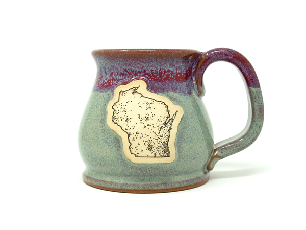 Population Map Mug - Amethyst Horizon