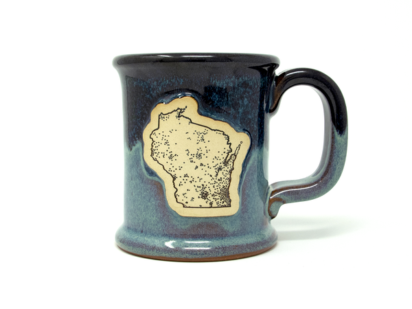 Population Map Mug - Night Sky
