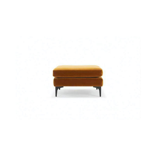 Astha, Footrest X-large, Velour Amber - Sofa Company