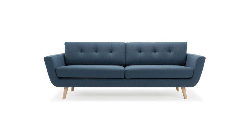 Vera, 3-seater sofa, Olena Midnight Blue - Sofa Company