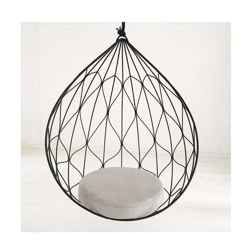 Calabash Hanging Pod Chair - Black - Sofa Company