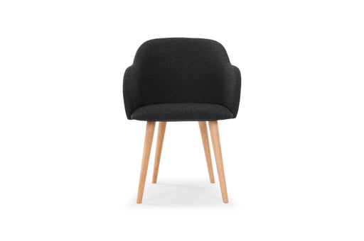 Vito, Dining Chair, Andie Antracit, oak legs - Sofa Company