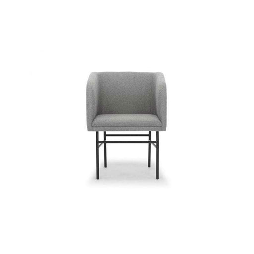 Ruby, Dining Chair, Andie Light Grey, Black Metal Legs - Sofa Company