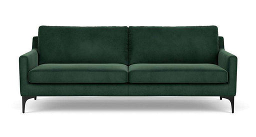 Anna, 3-Seater, Velour Lux Dark Green - Sofa Company