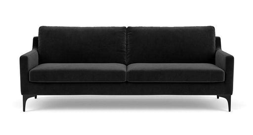 Anna, 3-Seater, Velour Matt Dark Grey - Sofa Company
